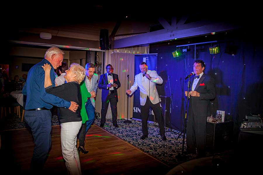 The One and Only Rat Pack Show at Saffron Walden Golf Club (shot by Reeve Photography).